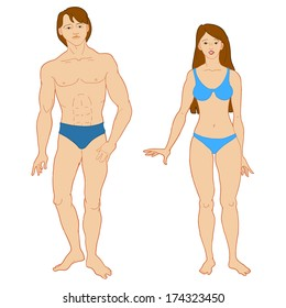 Templates of human's figure.JPG version.