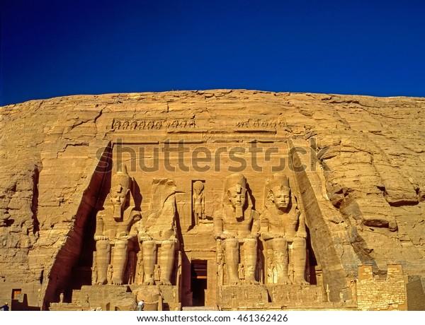 Temple in Abu Simbel dedicated to Ramesses II