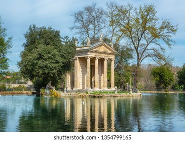 Temple of Aesculapius in Villa Borghese