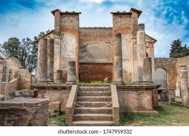 Temple in Ancient ruins of Pompei (Scavi di Pompei), Naples, Italy