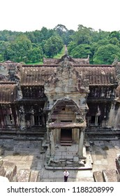 The temple of Angkor wat in Canbodia