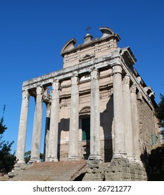 Temple of Antonius and Faustina, Roman Forum, Rome, Italy