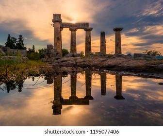 Temple Of Apollo at Ancient Corinth - Greece