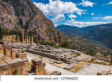 Temple of Apollo in Archaeological Site of Delphi, Central Greece