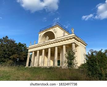 Temple Of Apollo building (Apollonuv Chram) which belongs to Lednice Valtice Cultural Landscape - Czech Republic - Shutterstock ID 1832497738
