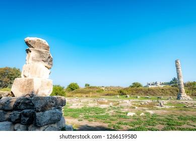Temple of Artemis of Ancient City of Ephesus, Izmir, Turkey.