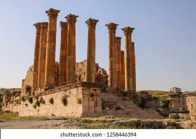 Temple of Artemis in the Ancient Roman city of Gerasa, modern Jerash, Jordan