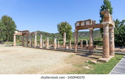 The Temple of Artemis at Brauron in Attica, Greece.