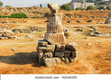 Temple of Artemis ruins. It is one of the seven wonder of ancient world. Located in Selcuk, Turkey.