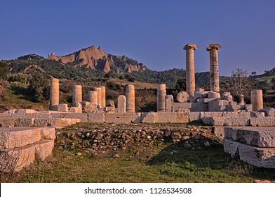 Temple of Artemis at Sardes Lydia Ancient City in Salihli, Manisa, Turkey