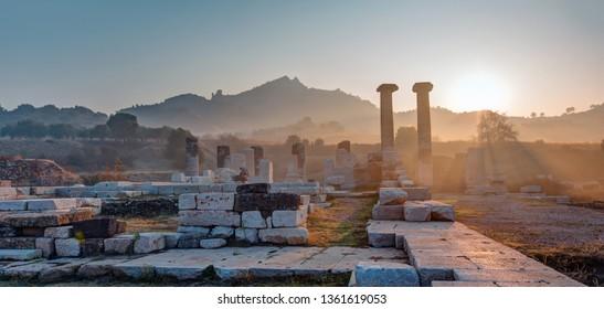 The Temple of Artemis, Sardes (Sardis) Ancient City - Manisa, Turkey