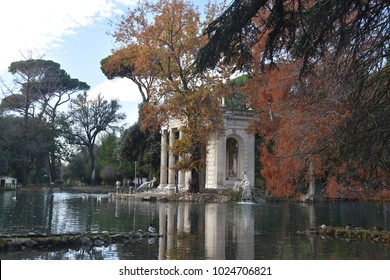 The Temple of Asclepius, VIlla Borghese, Rome, Italy, November 30th, 2017