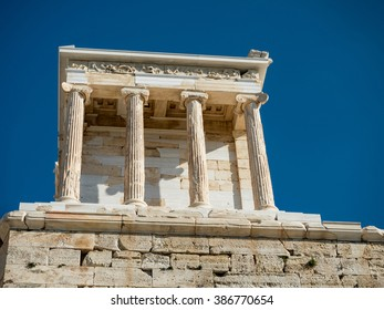 temple of Athena in Acropolis hill in Athens,Greece