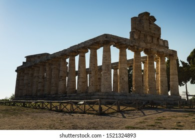 The Temple of Athena or Temple of Ceres, 500 BC, is a Greek temple found at Paestum