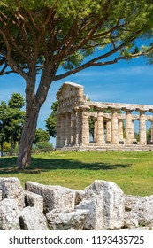 Temple of Athena (Minerva), (also known as Cerere Temple), ancient Greek temple in the Doric order in Poseidonia (Paestum), Campania, Italy