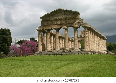 Temple of Athena in Paestum. Paestum is the classical Roman name of a major Graeco-Roman city in the Campania region of Italy.