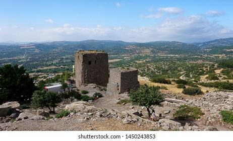 Temple of Athena (Athena Tapinagi in Turkish) in Assos, Canakkale Turkey
