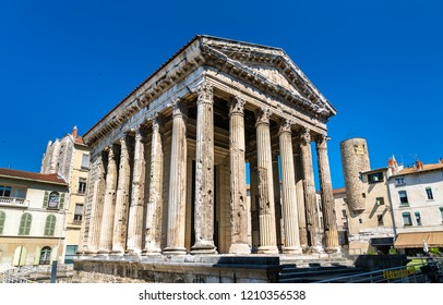 Temple of Augustus and Livia in Vienne, the Isere department of France