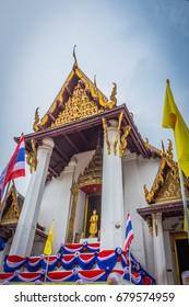 Temple in Ayuttaya,Thailand. This name is  Wat Nah Phramen.