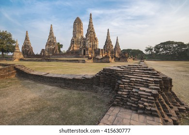 Temple in Ayutthaya historical park Thailand