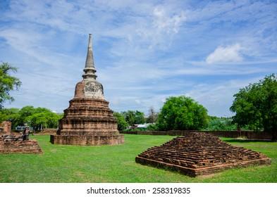 a temple in Ayutthaya ,Thailand