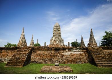 A temple in Ayutthaya , Thailand
