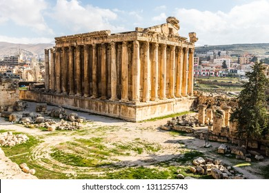 Temple of Bacchus in Baalbek Lebon