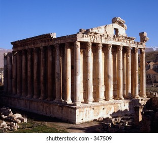 Temple of Bacchus at Heliopolis, Lebanon - mid 2nd century BC. Best preserved Roman temple in the world