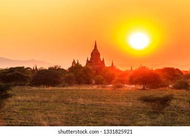 The Temple of Bagan (Pagan), Mandalay, Myanmar during the sunset