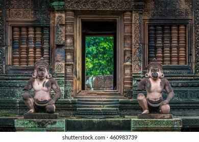 The temple of Banteay Srei in Siem Reap, Cambodia.