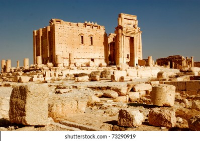 Temple of Bel in the ancient Palmyra complex in Syria.