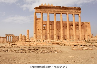Temple of Bel. Ruins of the ancient city of Palmyra on syrian desert (shortly before the war; 2011)