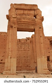 Temple of Bel. Ruins of the ancient city of Palmyra on syrian desert (shortly before the war, 2011)