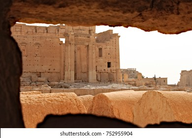 Temple of Bel. Ruins of the ancient Semitic city of Palmyra on syrian desert (shortly before the war, 2011)