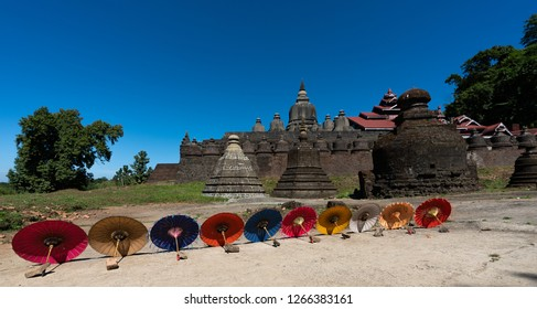 Temple and Bhudda staue,Mrauk U-Myanmar