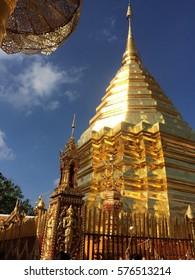 Temple Buddha Golden