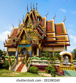 Temple building at the Wat Plai Laem complex, Ko Samui, Thailand