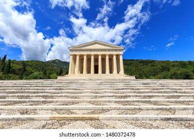 Temple of Canova, in the town of Possagno /Treviso, Veneto, Italy