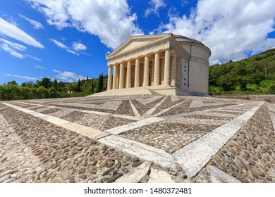 Temple of Canova, in the town of Possagno /Treviso, Veneto, Italy
