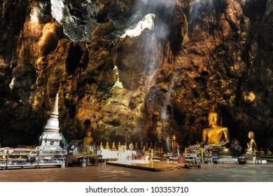 Temple in a cave, Khao Luang