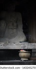 Temple Cetho Stone Artefact, placed on Tawangmangu Jawatengah, Indonesia