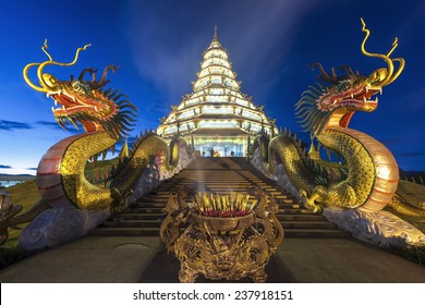 Temple in chiang rai province, thailand.