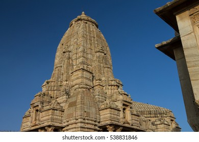 Temple in Chittorgarh. Example of  Indo-Aryan (North-Indian) architecture. Chittorgarh is the largest fortress in India & Asia. It's UNESCO World Heritage Site - Hill Forts of Rajasthan.