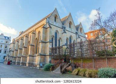 Temple Church built by the Knights Templar, 12th-century, London, UK