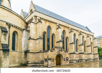 Temple Church was originally the precinct of the Knights Templar whose Temple Church was named in honor of Solomon's Temple in Jerusalem. London, England.
