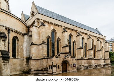 Temple Church was originally the precinct of the Knights Templar whose Temple Church was named in honor of Solomon's Temple in Jerusalem. London, England