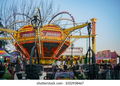 Temple City, FEB 24: Fun thrill rides of 74th Camellia Festival Parade on FEB 24, 2018 at Temple City, Los Angeles County, California