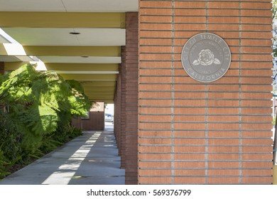 Temple City, JAN 24: The hallway of Temple City City Hall on JAN 24, 2017 at Temple City, Los Angeles, California, USA