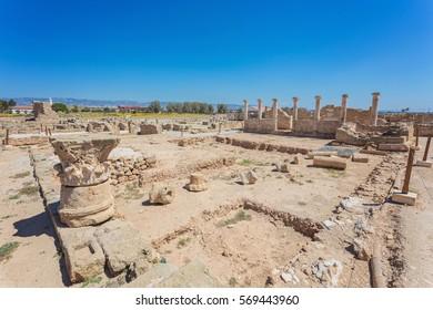 Temple columns. Kato Paphos Archaeological Park, Cyprus