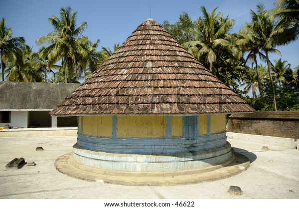 Temple compound in Kerala, India